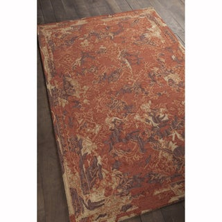 """Artist's Loom Hand-tufted Rustic Floral Pattern Rug (7'9""""x10'6"""")"""