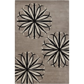Artist's Loom Hand-Tufted Transitional Floral Pattern Wool Rug (8'x10')