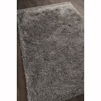 "Artist's Loom Hand-woven Contemporary Abstract Pattern Shag Rug (5'x7'6"")"