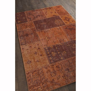 "Artist's Loom Hand-knotted Contemporary Abstract Pattern New Zealand Wool Rug (5'x7'6"")"