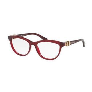 Coach Womens HC6087 5393 Bordeaux Plastic Cat Eye Eyeglasses