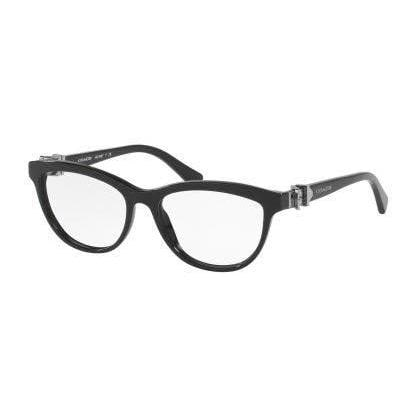 68ac8ef663a2c Shop Coach Womens HC6087F 5002 Black Plastic Cat Eye Eyeglasses - Free  Shipping Today - Overstock.com - 13805447