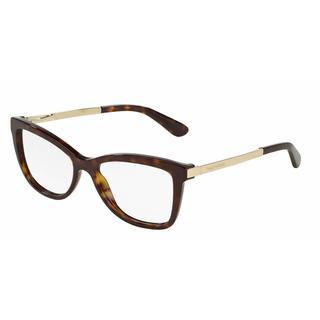 Dolce & Gabbana Womens DG3218 SICILIAN TASTE 502 Havana Plastic Cat Eye Eyeglasses