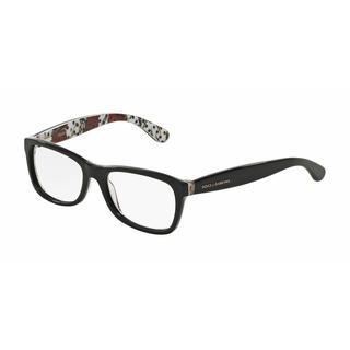 Dolce & Gabbana Womens DG3231 2976 Black Plastic Rectangle Eyeglasses