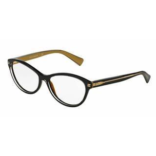 Dolce & Gabbana Womens DG3232 2955 Black Plastic Cat Eye Eyeglasses