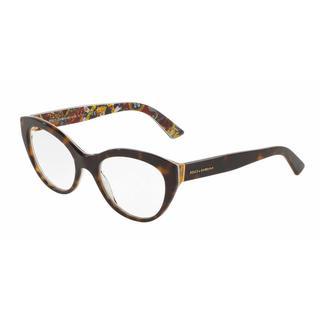 Dolce & Gabbana Womens DG3246 3037 Plastic Cat Eye Eyeglasses