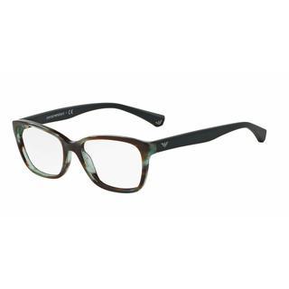 Emporio Armani Womens EA3060 5388 Green Plastic Cat Eye Eyeglasses