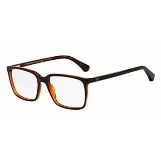 Emporio Armani Mens EA3074F 5464 Black Plastic Square Eyeglasses