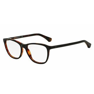 Emporio Armani Womens EA3075F 5049 Black Plastic Square Eyeglasses