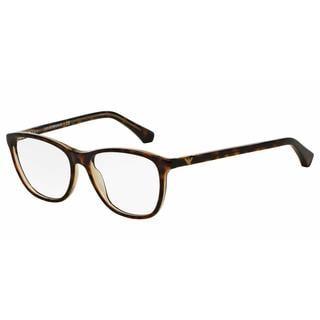 Emporio Armani Womens EA3075F 5465 Havana Plastic Square Eyeglasses