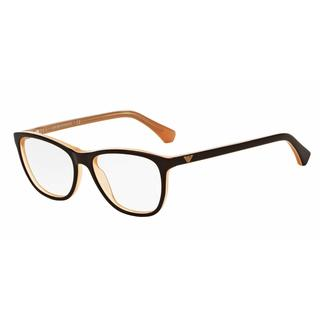 Emporio Armani Womens EA3075F 5480 Brown Plastic Square Eyeglasses