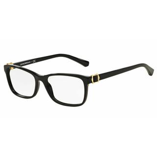 cc0998877555 Emporio Armani Womens EA3076F 5017 Black Plastic Rectangle Eyeglasses