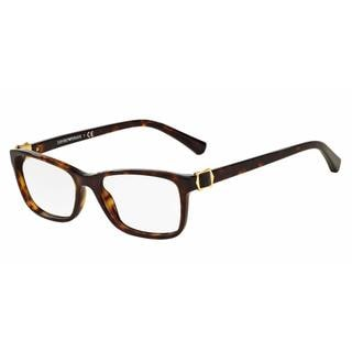 Emporio Armani Womens EA3076F 5026 Havana Plastic Rectangle Eyeglasses