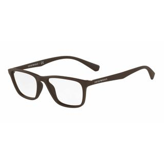 Emporio Armani Mens EA3086 5503 Brown Plastic Rectangle Eyeglasses