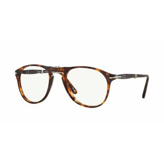 Persol Mens PO9714VM 24 Havana Plastic Cateye Eyeglasses