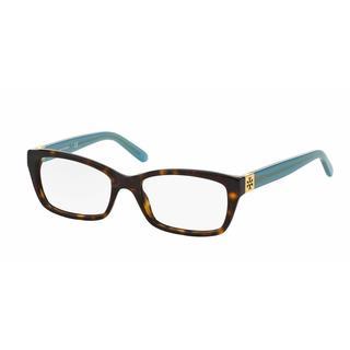 Tory Burch Womens TY2049 1359 Havana Plastic Rectangle Eyeglasses