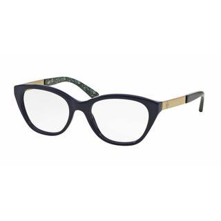 Tory Burch Womens TY2059 1520 Blue Plastic Cat Eye Eyeglasses