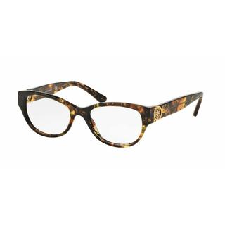 Tory Burch Womens TY2060 3144 Havana Plastic Cat Eye Eyeglasses