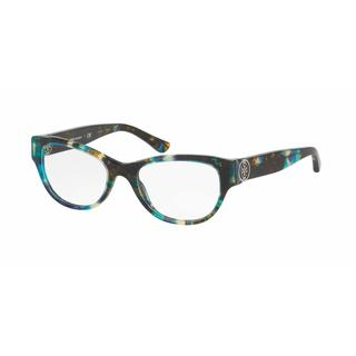 Tory Burch Womens TY2060 3145 Havana Plastic Cat Eye Eyeglasses - Blue