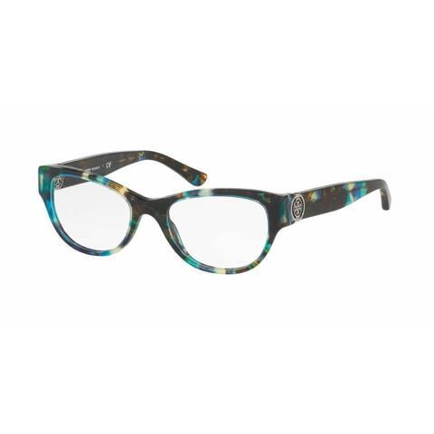 Tory Burch Womens TY2060 3145 Havana Plastic Cat Eye Eyeglasses - Blue