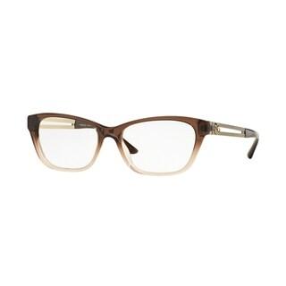 Versace Womens VE3220 5165 Brown Plastic Cat Eye Eyeglasses