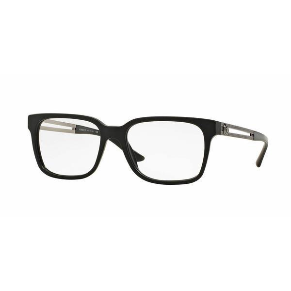 e76780c0031 Shop Versace Mens VE3218 5122 Black Plastic Square Eyeglasses - Free  Shipping Today - Overstock - 13805591