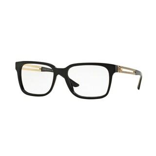 Versace Mens VE3218 GB1 Black Plastic Square Eyeglasses