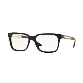 Versace Mens VE3218 GB1 Black Plastic Square Eyeglasses