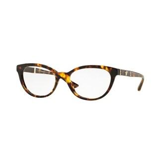 Versace Womens VE3219Q 5148 Brown Plastic Oval Eyeglasses