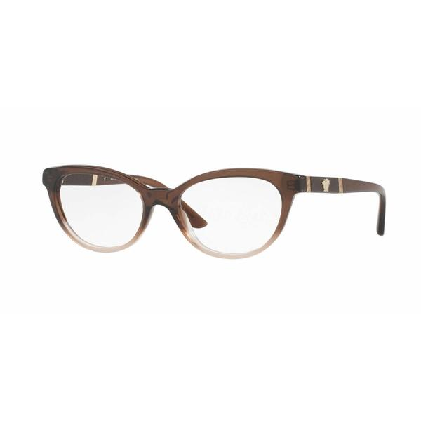f9ead74c07dd Shop Versace Womens VE3219Q 5165 Brown Plastic Oval Eyeglasses - Free  Shipping Today - Overstock - 13805595