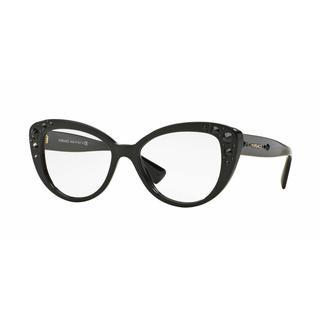 Versace Womens VE3221B GB1 Black Plastic Cat Eye Eyeglasses