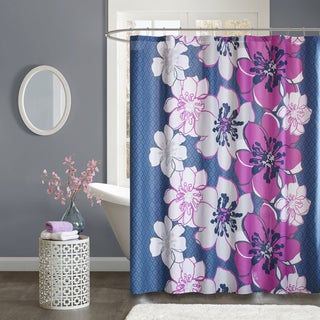 Mi Zone Mackenzie Fuschia Shower Curtain