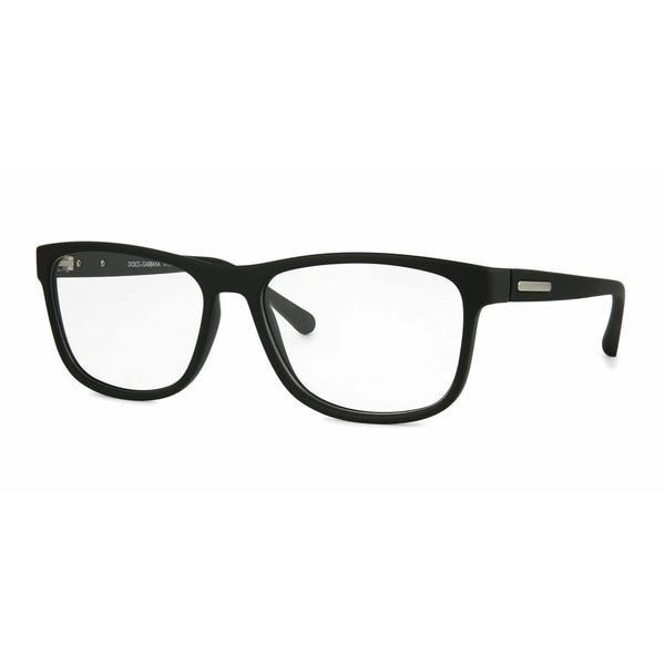 374fac71c6e Dolce  amp  Gabbana Mens DG5003 OVER-MOLDED RUBBER 2616 Black Plastic Square  Eyeglasses