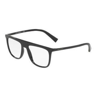Dolce & Gabbana Mens DG5022 501 Black Plastic Square Eyeglasses