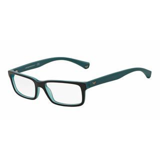 Emporio Armani Mens EA3061 5393 Black Plastic Rectangle Eyeglasses