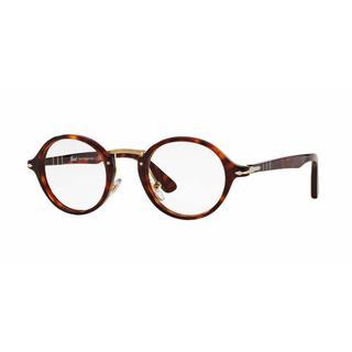 Persol Unisex PO3128V 24 Havana Plastic Round Eyeglasses