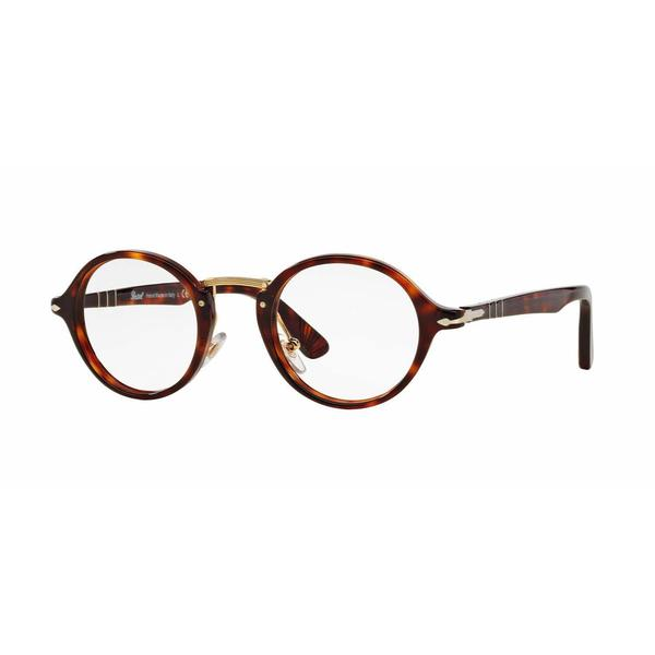 59c7bb9d43d1b Shop Persol Unisex PO3128V 24 Havana Plastic Round Eyeglasses - Free ...