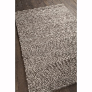 """Artist's Loom Hand-woven Contemporary Stripes Pattern Brown Color New Zealand Wool Rug (5'x7'6"""")"""