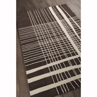"""Artist's Loom Hand-Tufted Contemporary Plaid Pattern Wool Rug - 5'x7'6"""""""
