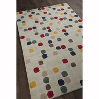"""Artist's Loom Hand-Tufted Contemporary Color Block Pattern Wool Rug (5'x7'6"""")"""