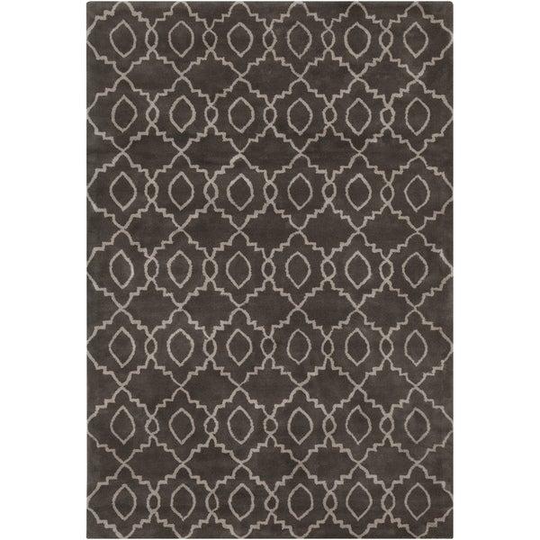 Artistx27s Loom Hand Tufted Moroccan Trellis Pattern Wool Rug 5