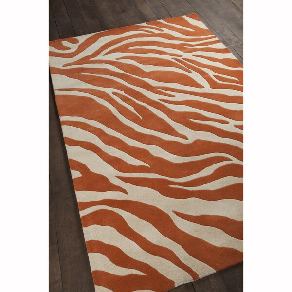 """Artist's Loom Hand-Tufted Contemporary Abstract Pattern Wool Rug (5'x7'6"""")"""