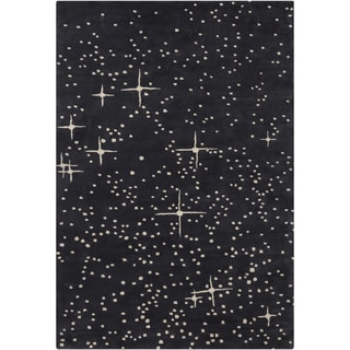 """Artist's Loom Hand-Tufted Contemporary Dots Pattern Wool Rug (5'x7'6"""")"""