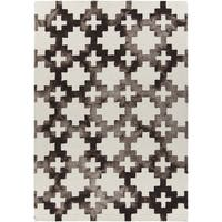 "Artist's Loom Hand-Tufted Contemporary Geometric Pattern Wool Rug (5'x7'6"")"