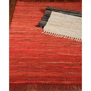 Natural Area Rugs Hand-Woven Concepts Jute Leather Rug w/Bonus Rug Pad, (8' x 10') with Bonus Rug Pad