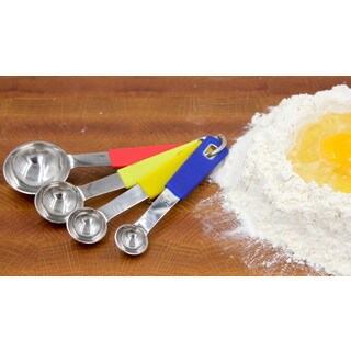 Multicolored Stainless Steel Measuring Spoons (Pack of 4)