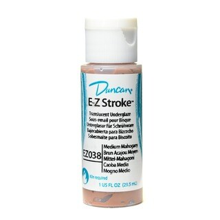 Duncan E-Z Stroke Medium Mahogany Translucent Underglaze (Pack of 4)