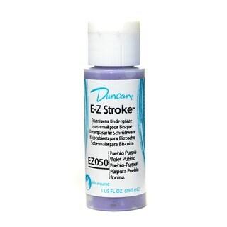 Duncan E-Z Stroke 1-ounce Pueblo Purple Translucent Underglaze (Pack of 4)