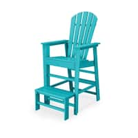 POLYWOOD South Beach Outdoor Lifeguard Chair with Extended Foot Step