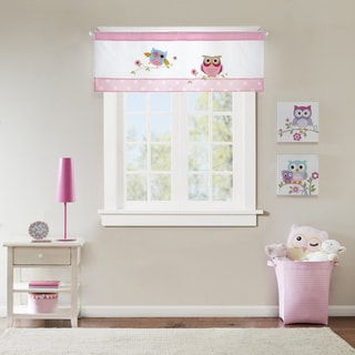 Mi Zone Kids Nocturnal Nellie Pink Printed and Applique Valance